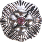 Silberne Blume rose
